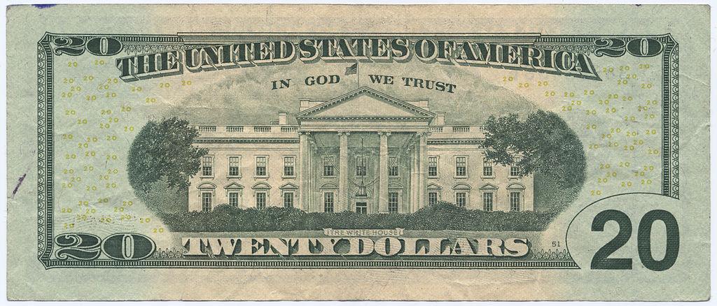 Rear of U.S. twenty-dollar bill. Wikimedia Commons/Public domain