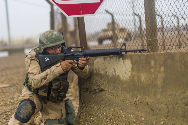 Image: Iraqi soldiers learn urban operations tactics​. DVIDS/U.S. Army.