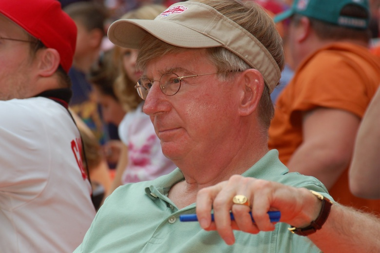 George Will at a baseball game. Photo by Scott Ableman, CC BY-NC-ND 2.0.