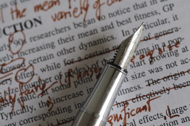 Image: Editing a paper. Photo by Nic McPhee, CC BY-SA 2.0.