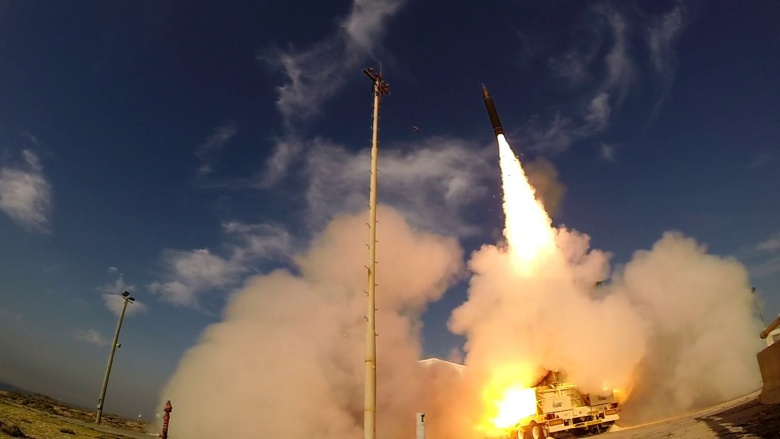 A missile test. Image via US Missile Defense Agency.