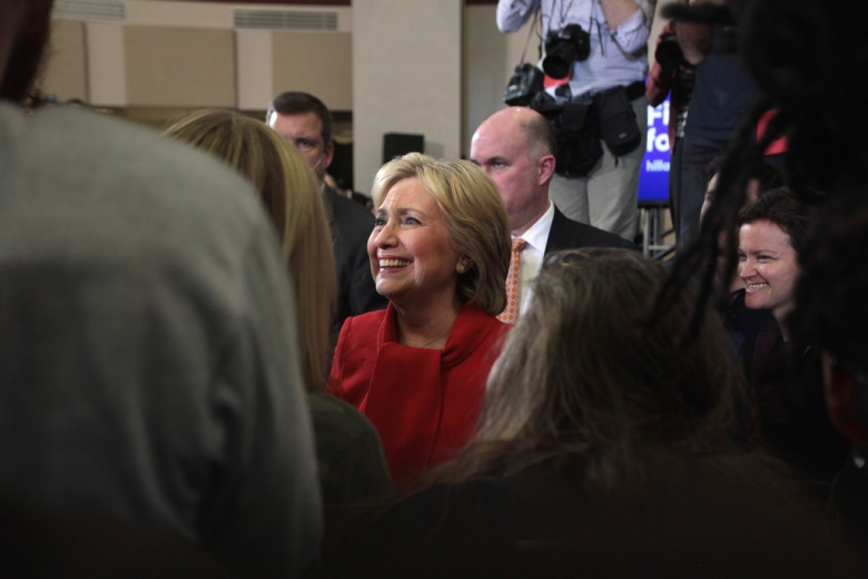 Image: Hillary Clinton in Iowa, 2016. Photo by Gage Skidmore, CC BY-SA 2.0.