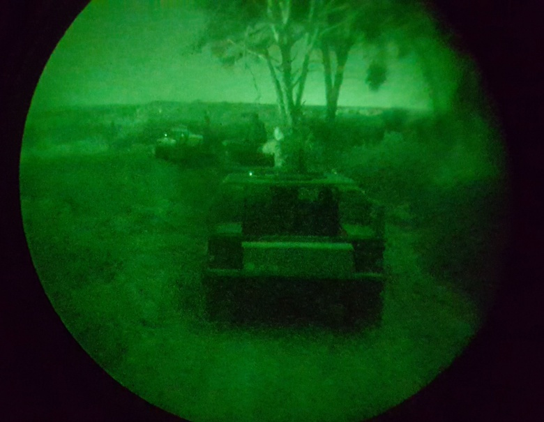 "Image: ""U.S. Marines and Tunisian Groupement des Forces Speciales conduct convoy night operation training during an exercise in Bizerte, Tunisia, Mar. 21- Apr. 8, 2016. The Marine vehicle maintenance and assistance team trained with their Tunisian counterparts to increase the counter terrorism capabilities of the GFS. (U.S. Marine Corps photo by Staff Sgt. Chris Blas/Released)"""