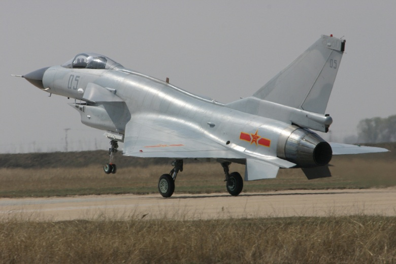 Image: a Chengdu J-10 fighter. Flickr/mxiong. CC BY 2.0.