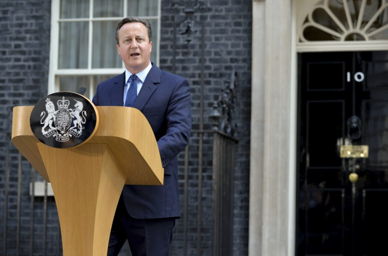 British Prime Minister David Cameron speaking about the result of the European Union Referendum. Crown copyright/CC BY-NC-SA.