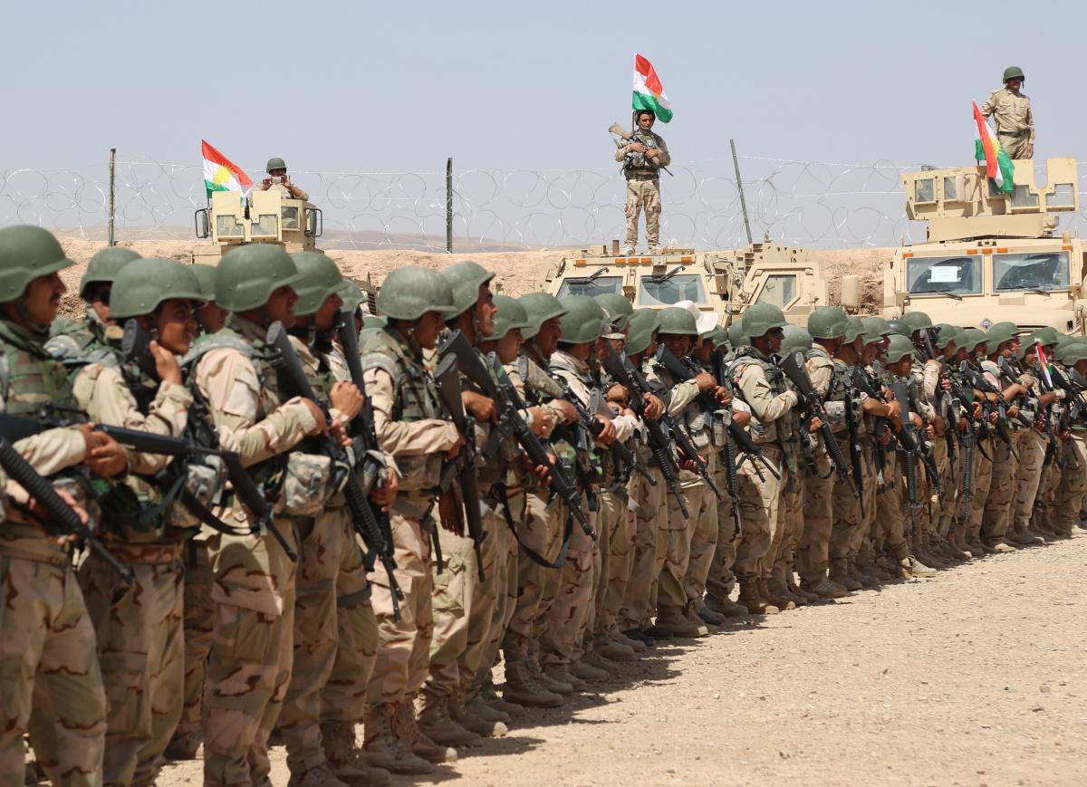 Peshmerga soldiers with Second Battalion, First Regional Guard Brigade. DVIDSHUB/Public domain