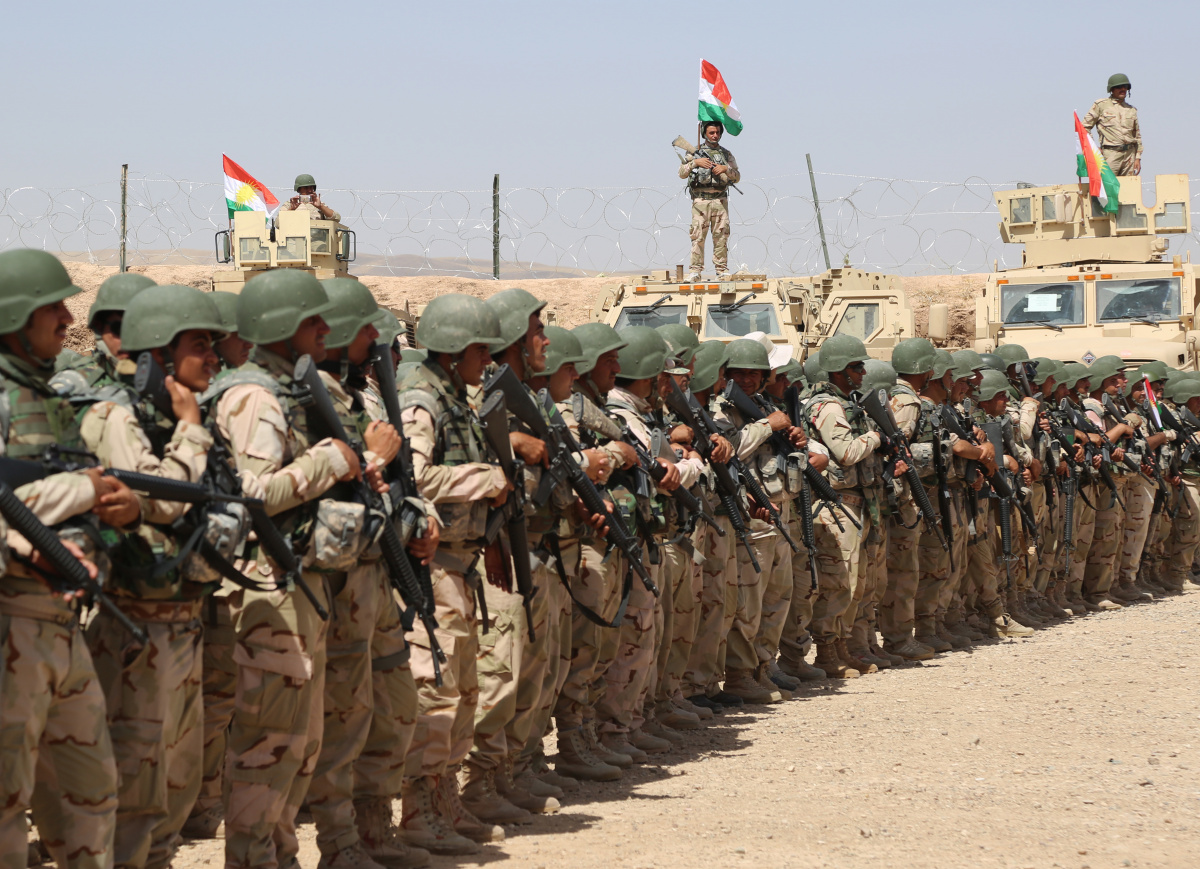Peshmerga soldiers with Second Battalion, First Regional Guard Brigade. DVIDSHUB/Public domain