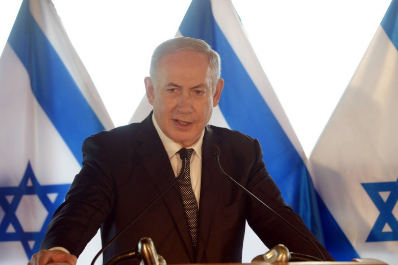 "Image: ""Prime Minister Benjamin Netanyahu holds a press conference regarding the agreement with Turkey. Photo: Amos Ben Gershom, GPO."""