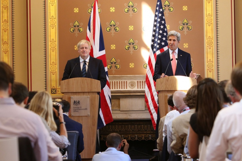 Image: Boris Johnson and John Kerry. Foreign and Commonwealth Office photo, CC BY 2.0.