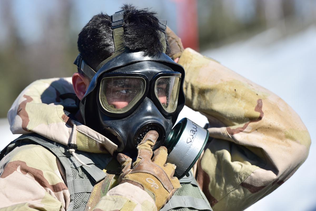 Joint Service Lightweight Integrated Suit Technology stress fire. DVIDSHUB/Public domain