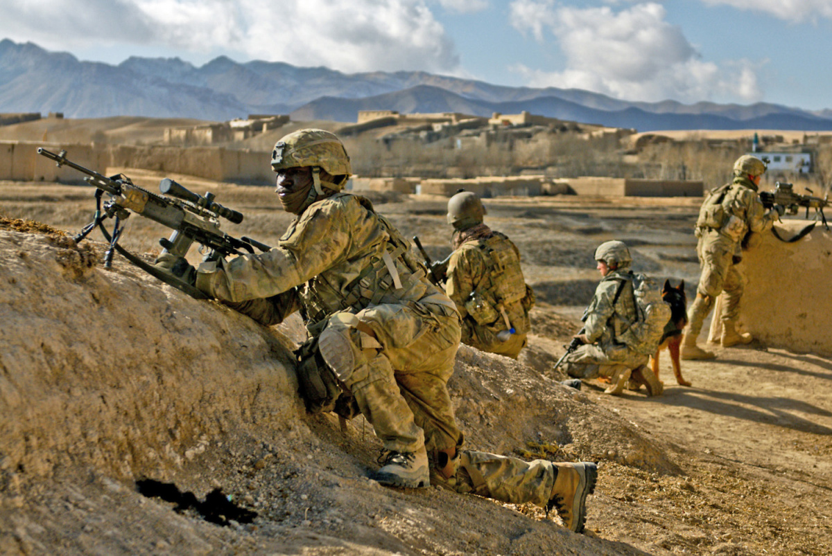 U.S. Army soldiers in Kharwar District, Afghanistan. DVIDSHUB/Public domain