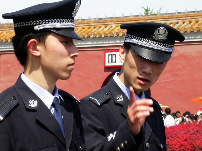 Image: Police in Beijing. Photo by Beijing Patrol. CC BY 2.0.