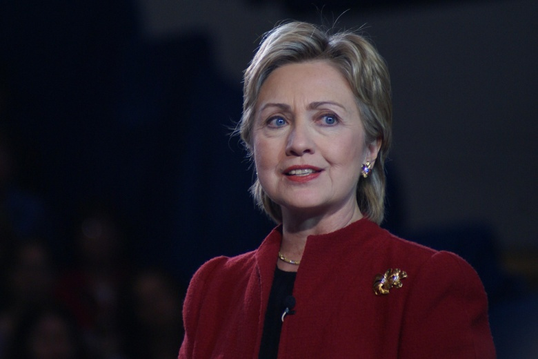 Image: Hillary Clinton in 2007. Flickr/Marc Nozell, CC BY 2.0.