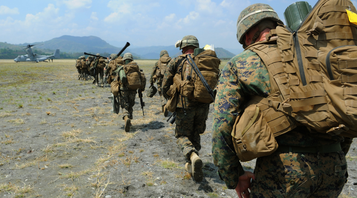 Philippine Marines and U.S Marines participate in a training drill as part of Balikatan 2013. DVIDSHUB/Public domain