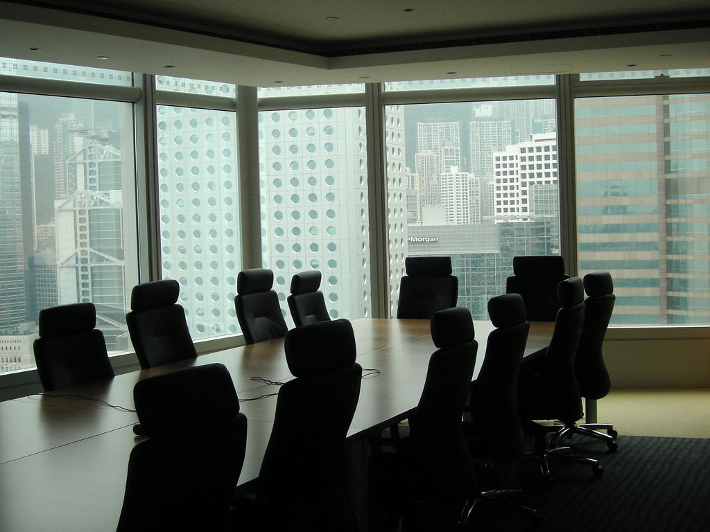 Empty boardroom in Hong Kong. Flickr/Creative Commons/@ricardo