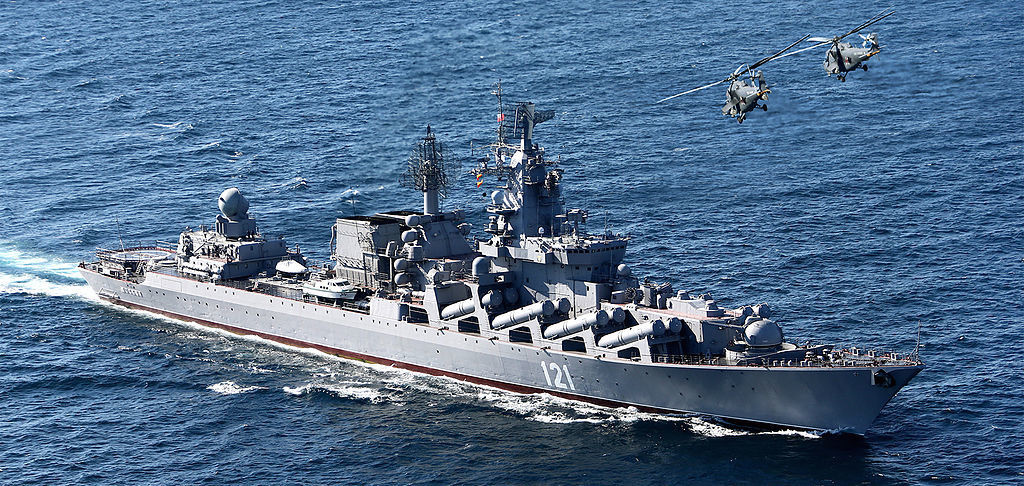 Russian cruiser Moskva. Wikimedia Commons/Mil.ru