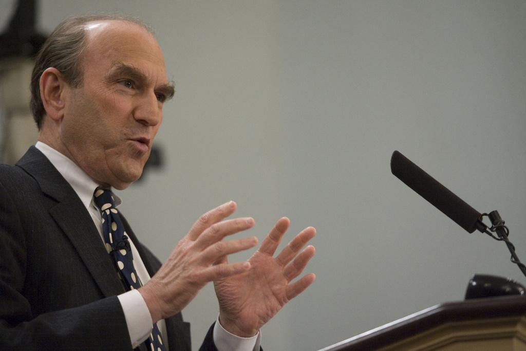 Elliott Abrams speaks at the Miller Center at the University of Virginia. Flickr/Creative Commons/Miller Center
