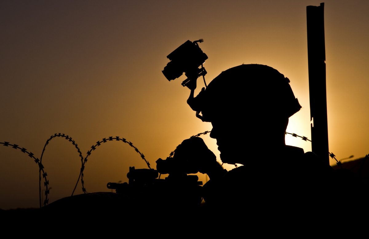 A battle drill on Forward Operating Base Lightning, Afghanistan. Flickr/U.S. Army