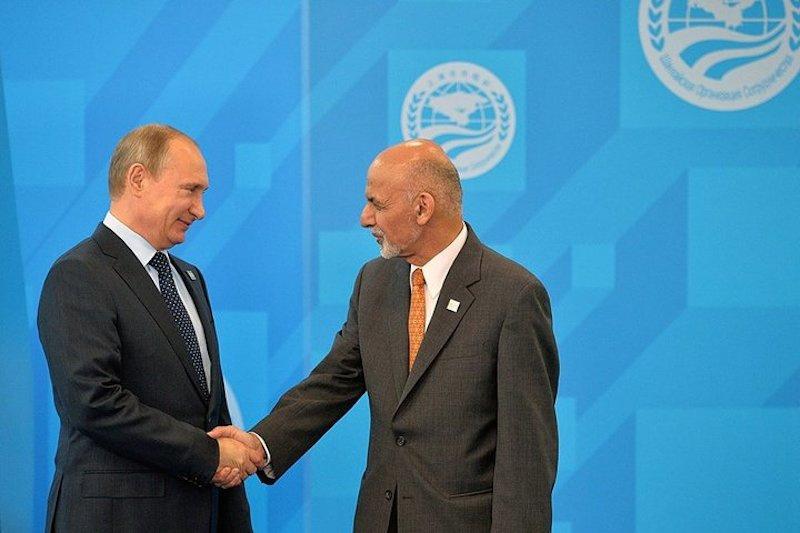 Vladimir Putin with Ashraf Ghani. Kremlin.ru