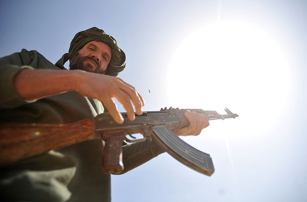 An Afghan Local Police officer during a weapons training class. Wikimedia Commons/U.S. Navy