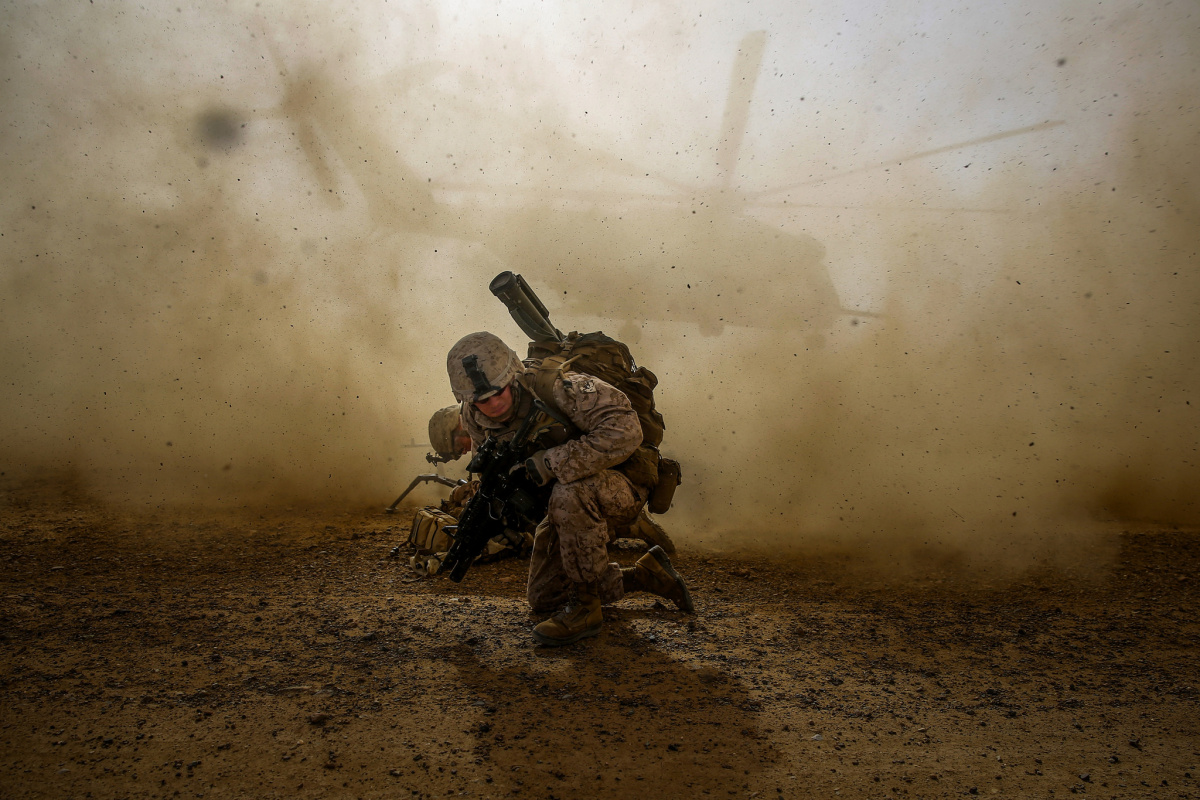 Marine during a mission in Helmand Province, Afghanistan. Flickr/Creative Commons/U.S. Marines