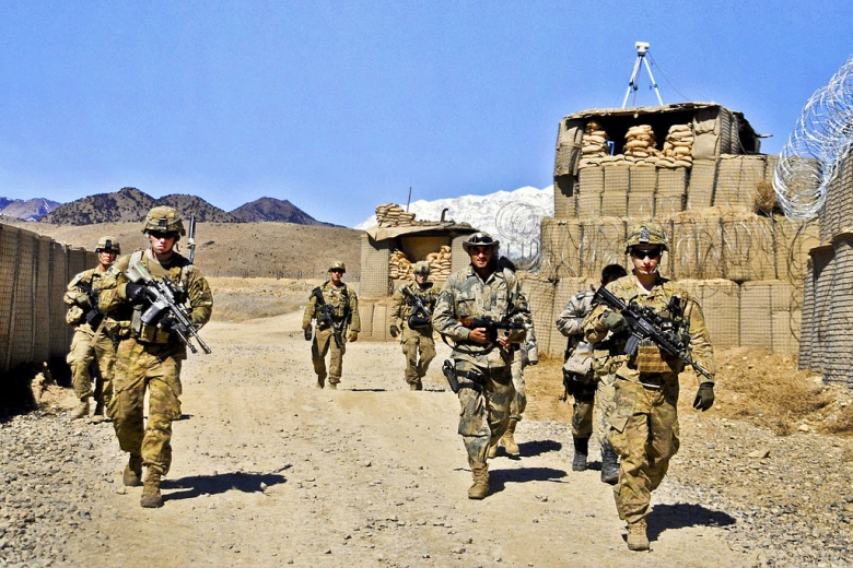 U.S. Army soldiers prepare to conduct security checks near the Pakistan border at Combat Outpost Dand Patan in Afghanistan's Paktya province on Feb. 29, 2012. Wikimedia Commons/U.S. Army