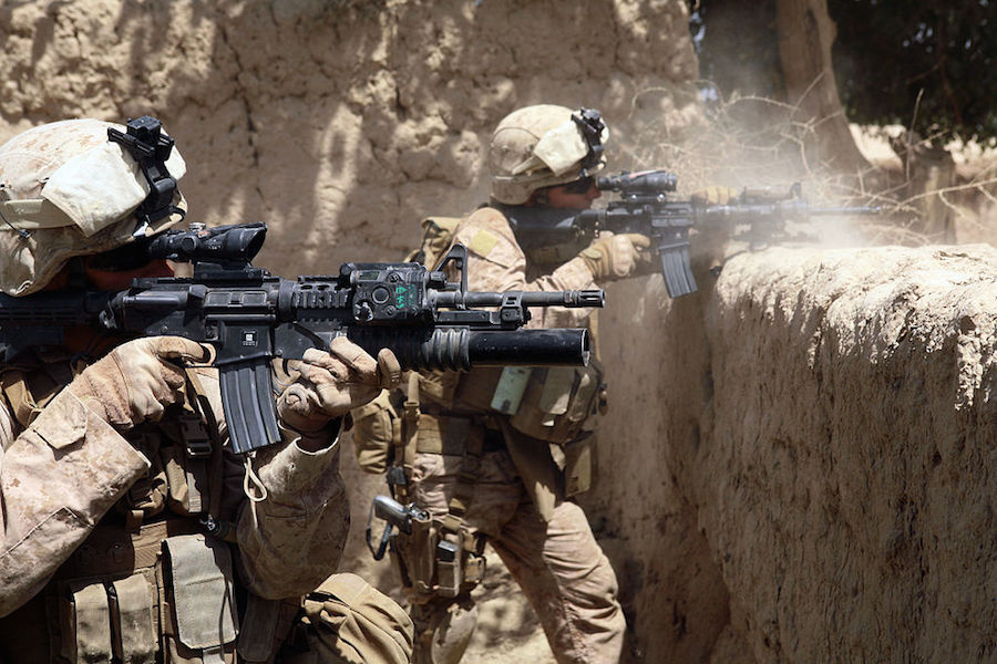 U.S. Marines during an operation in the Helmand province of Afghanistan. Wikimedia Commons/Public domain