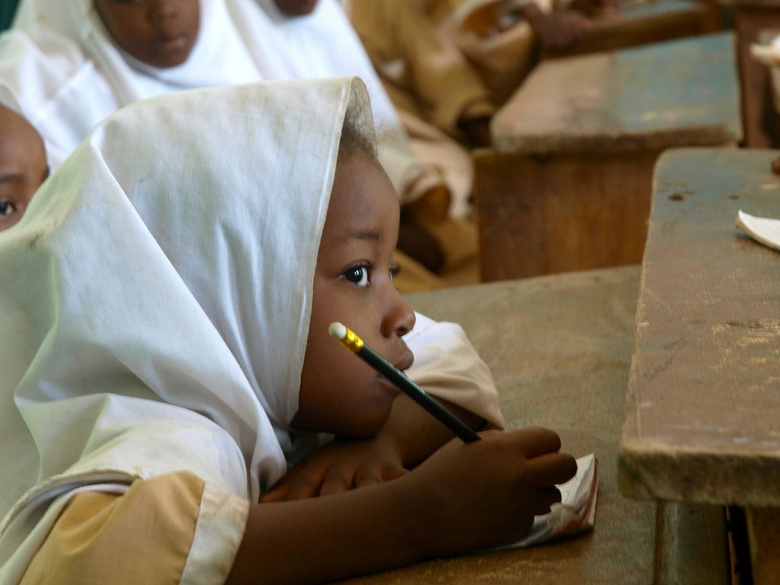 Girl in a USAID school in Nigeria. Wikimedia Commons/USAID