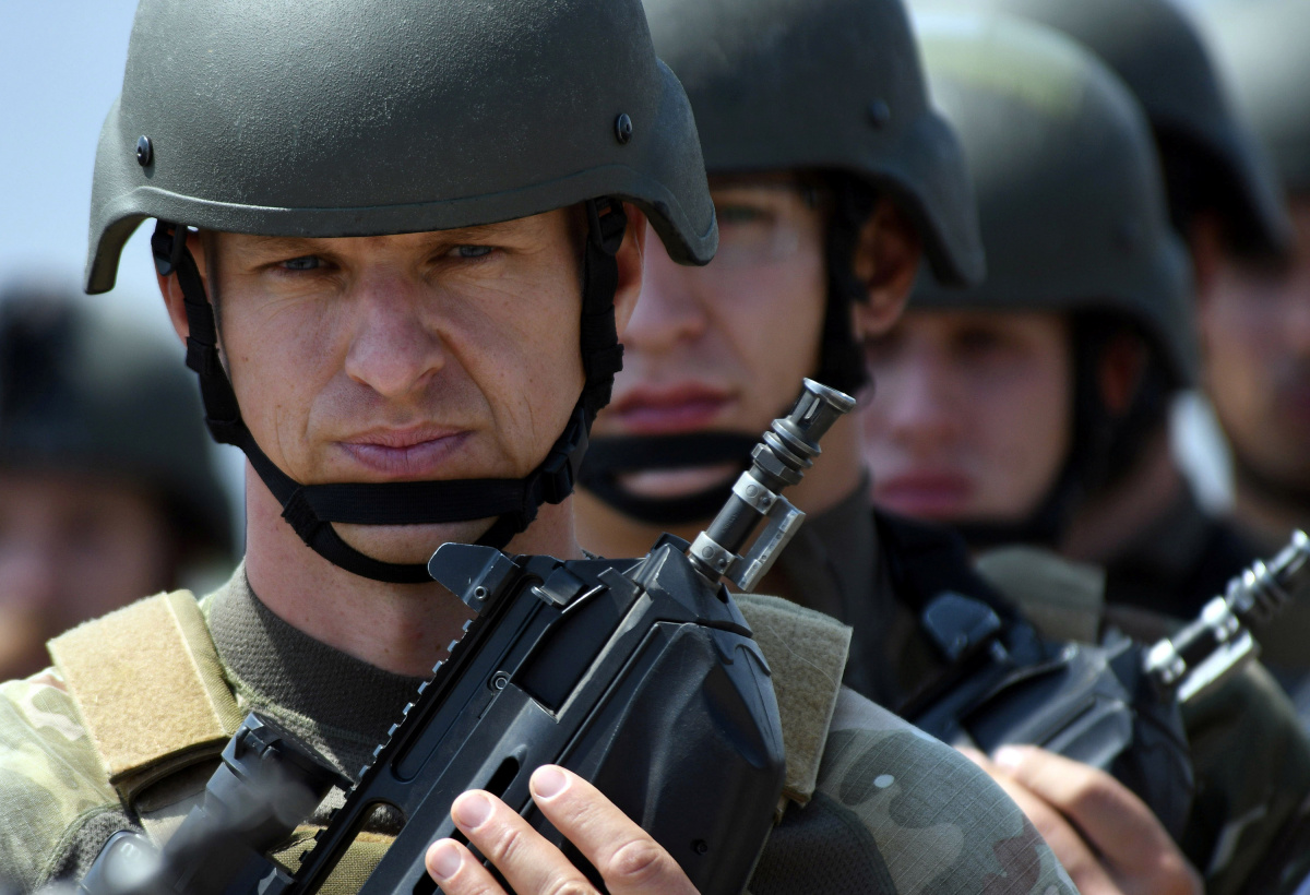 Slovenian servicemen attend NATO led joint military exercises Noble Partner 2017 at the Vaziani military base near Tbilisi, Georgia