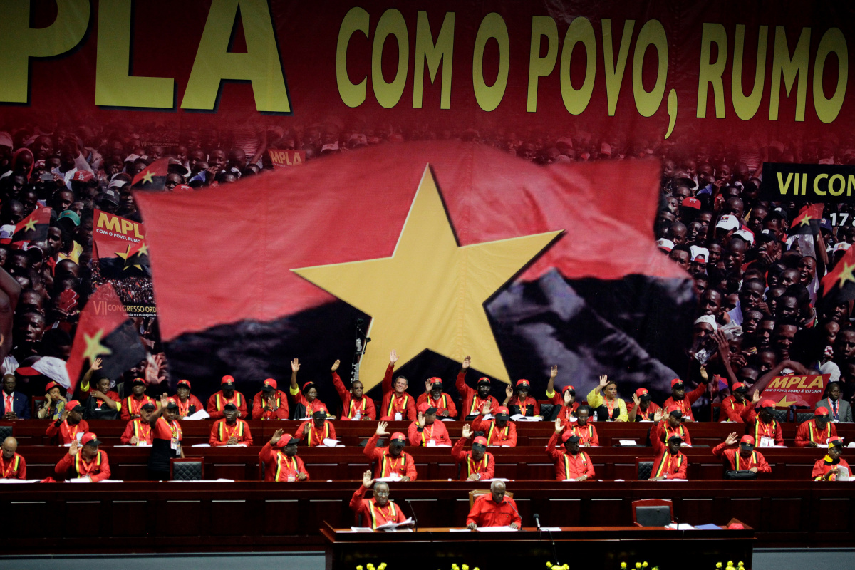 Members of the MPLA attend their party congress to determine candidates for the 2017 elections in the capital Luanda, Angola