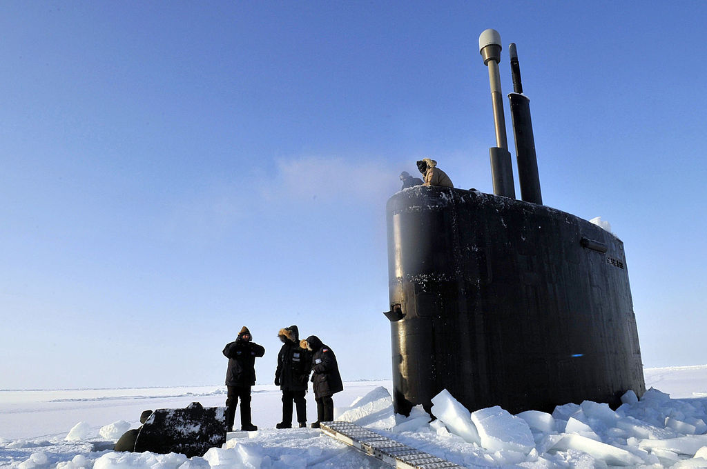 Los Angeles–class submarine USS Annapolis in the Arctic Ocean. Wikimedia Commons/U.S. Navy