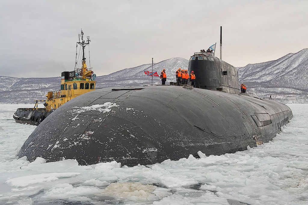 Russian submarine Tomsk in Vilyuchinsk. Wikimedia Commons/Creative Commons/Mil.ru
