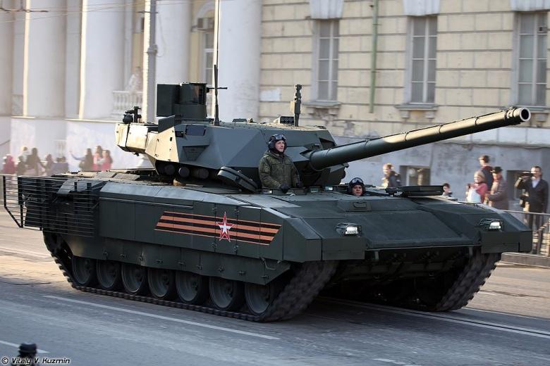 Main battle tank T-14 object 148 on heavy unified tracked platform Armata. Wikimedia Commons/Vitaly V. Kuzmin
