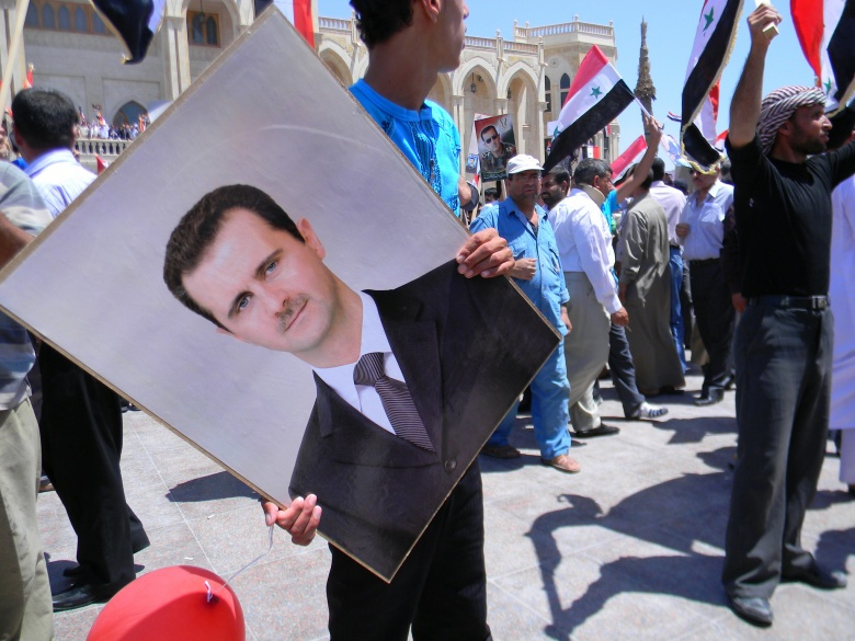 2010 march in support of Bashar al-Assad. Flickr/Beshr Abdulhadi
