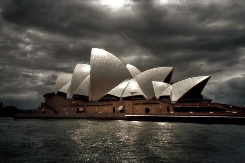 Sydney Opera House under stormy sky. Pixabay/Public Domain
