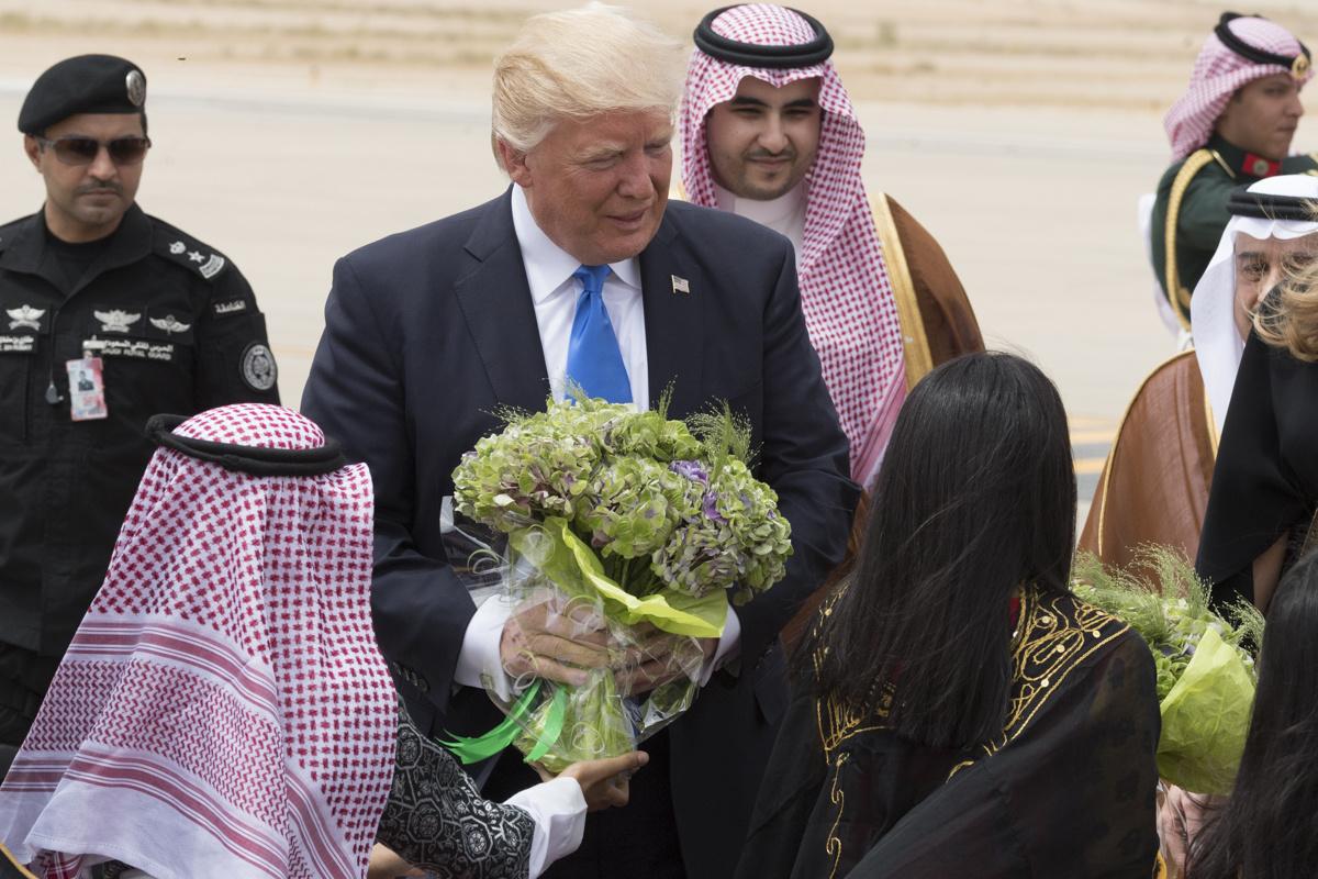 President Donald Trump and First Lady Melania Trump arrive in Riyadh, Saudi Arabia. Wikimedia Commons/The White House