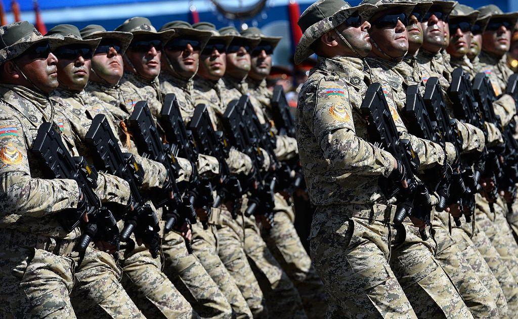 Azerbaijani soldiers on parade in Moscow. Wikimedia Commons/Kremlin.ru