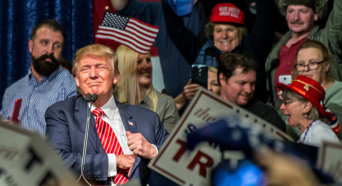 Donald Trump in Reno, Nevada. Flickr/Creative Commons/Darron Birgenheier