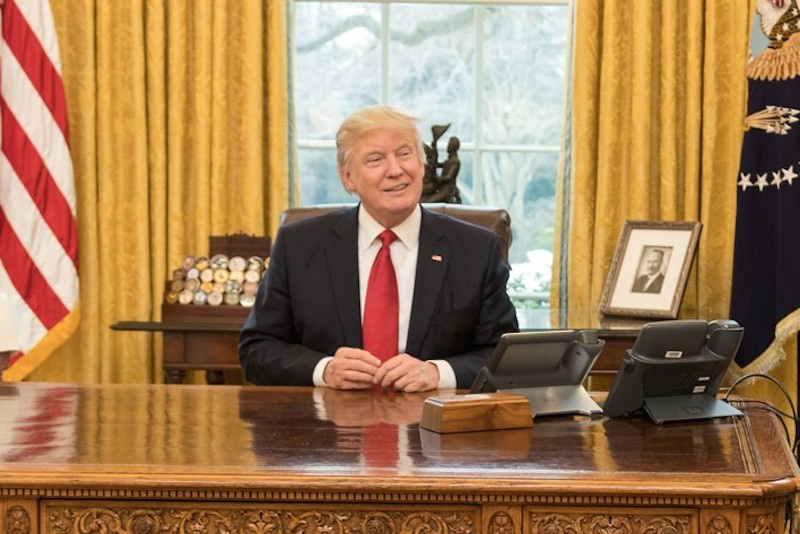 Donald Trump in the Oval Office of the White House. Flickr/The White House
