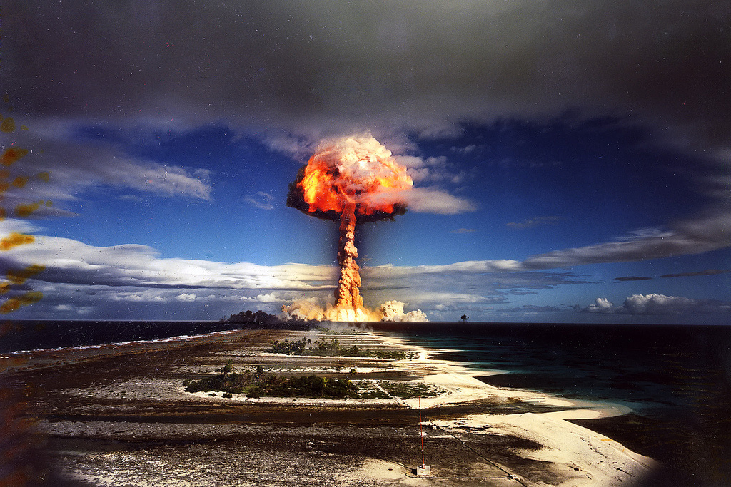 Licorne thermonuclear test in French Polynesia. Flickr/Creative Commons/Pierre J.