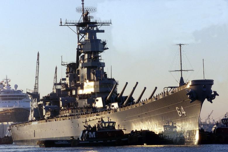 The battleship USS Wisconsin. Wikimedia Commons/U.S. Navy