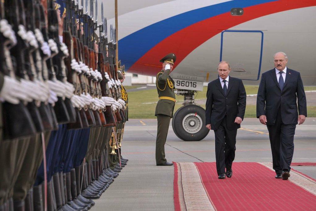 Vladimir Putin with Aleksandr Lukashenko. Kremlin.ru