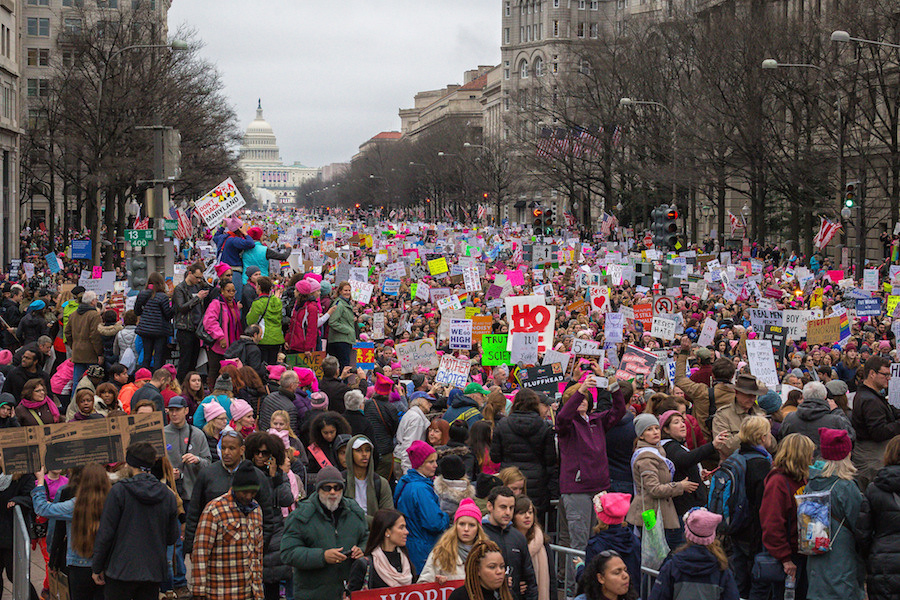 Women's March on Washington. Flickr/Creative Commons/Mobilus In Mobili