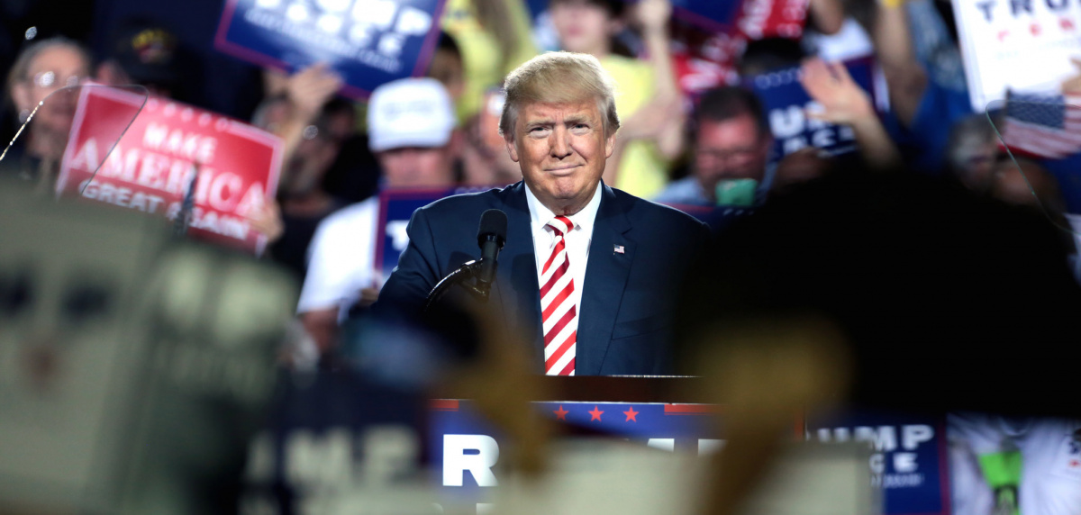 Donald Trump at a campaign rally in Prescott Valley, Arizona. Flickr/Creative Commons/Gage Skidmore