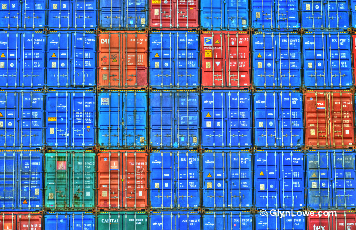 Shipping containers in Hamburg, Germany. Flickr/Creative Commons/Glyn Lowe