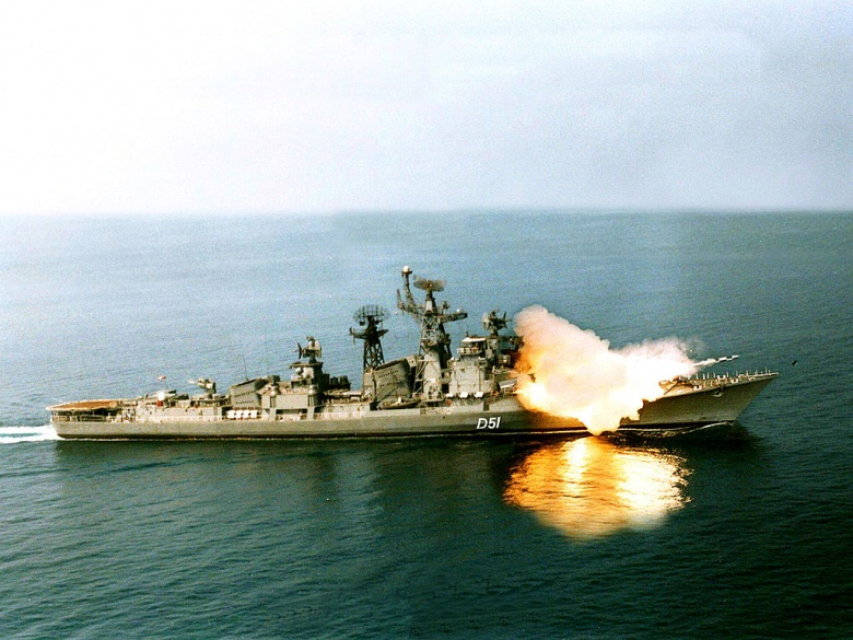 INS Rajput firing a BrahMos missile. Wikimedia Commons/Indian Navy