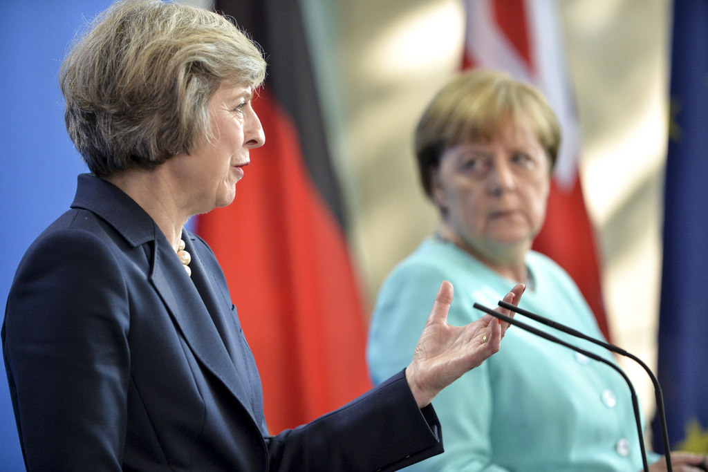 Prime Minister Theresa May on an official state visit to Berlin. Flickr/Crown Copyright/Number 10