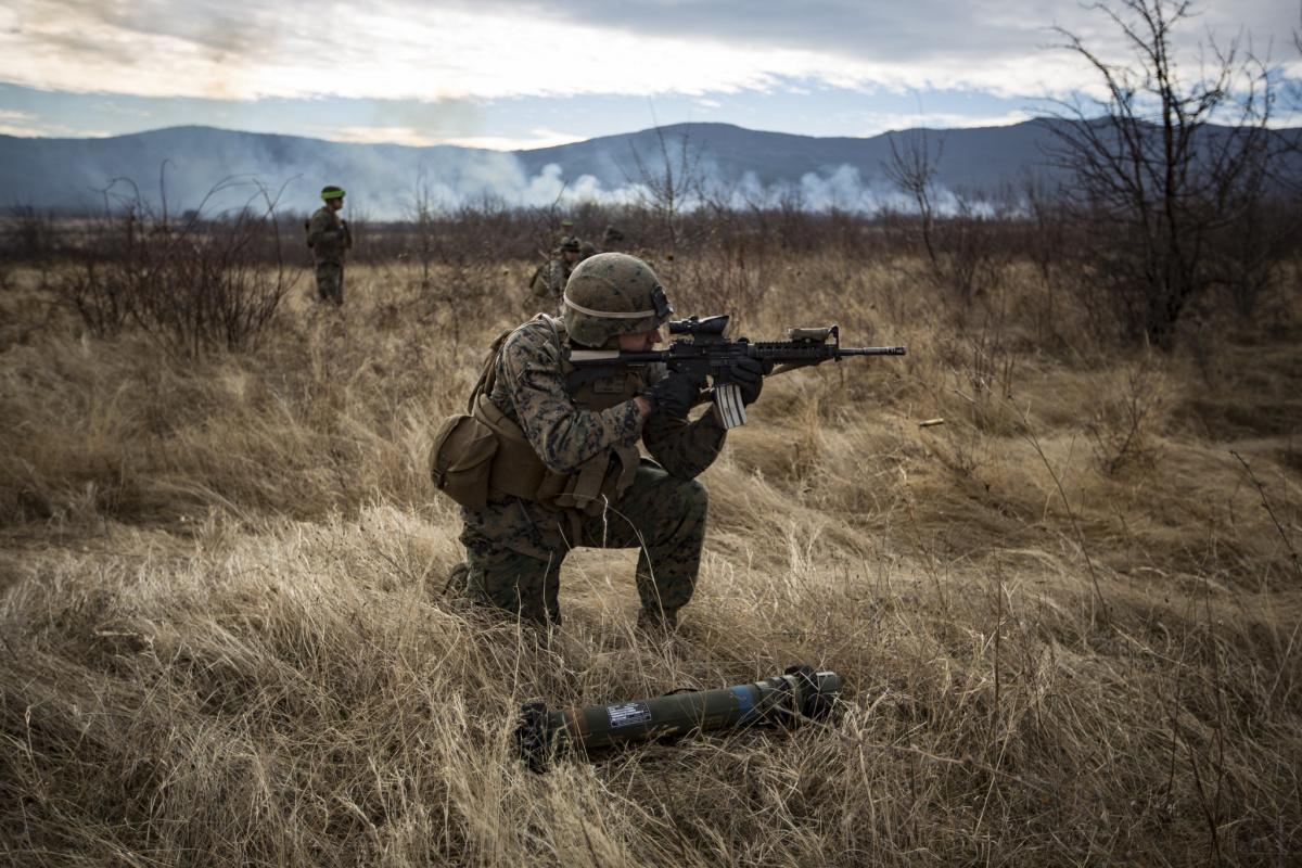 U.S. Marines during Exercise Platinum Lion 17.1 in Bulgaria. Flickr/U.S. Department of Defense