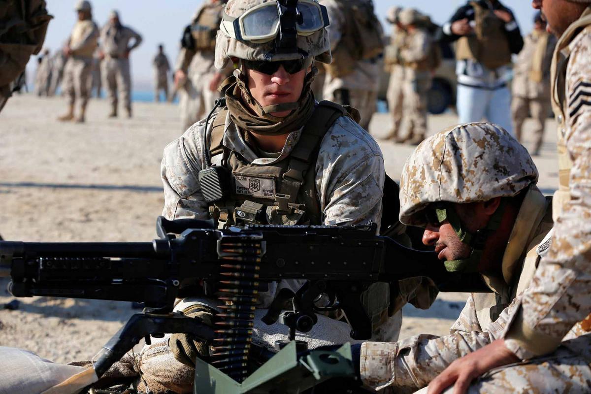 U.S.-Saudi bilateral machine gun live-fire training. Flickr/U.S. Naval Forces Central Command