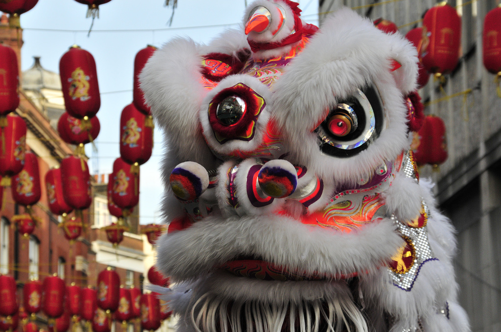 Dragon at Chinese New Year celebrations in London. Flickr/Creative Commons/Paolo Camera